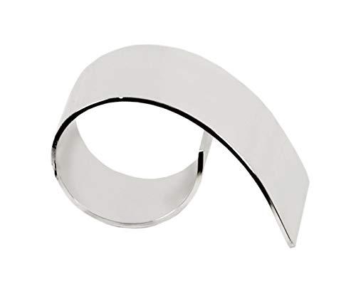 LORENA LIVING Serviettenring Paris, edel versilbert, anlaufgeschützt, Länge 6 cm, Durchmesser 3,5 cm, geeignet für handelsübliche Servietten aus Papier oder Stoff