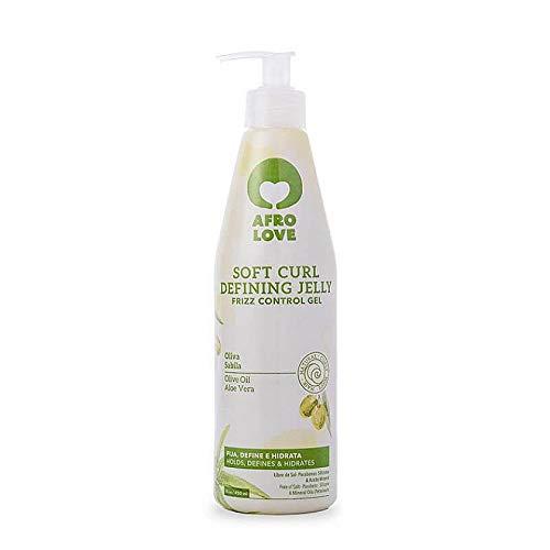 Afro Love Soft Curl Defining Jelly Frizz Control Gel 450ml. 16oz.