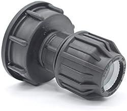 6 Puntos 1//2 Ibc Adaptador De Tanque Pl/ástico Adaptador Universal De Manguera Roscada De Espesor DN60 Cable Interno De 4 Puntos 1 Conector De Agua Para Jard/ín Dom/éstico 1 Pulgada 3//4