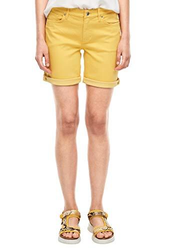 s.Oliver Damen Slim Fit: Coloured Denim-Shorts Yellow 44