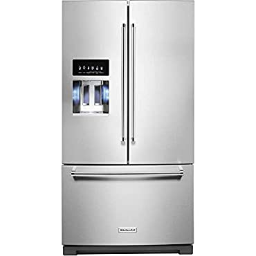 KitchenAid KRFF507HPS 36 26.8 Cu. Ft. French Door Refrigerator with Ice & Water Dispenser - Stainless Steel with PrintShield Finish