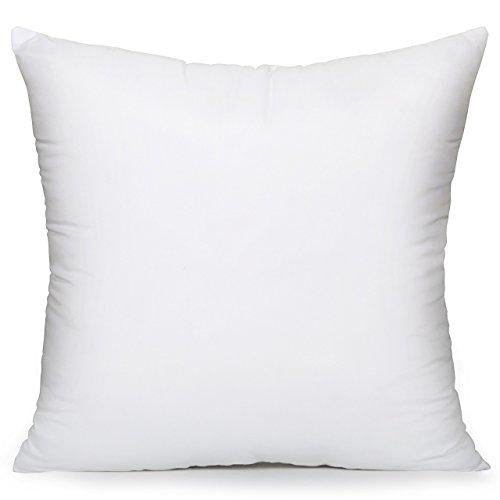 "Acanva Hypoallergenic Pillow Insert Form Cushion, Square, 16"" L x 16"" W"