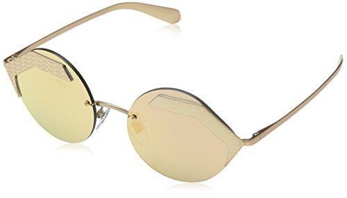 Bulgari 0BV6089 20134Z 55 zonnebril, goud (mat roze goud/roze goud/grijsmirrorroségoud), unisex - volwassenen
