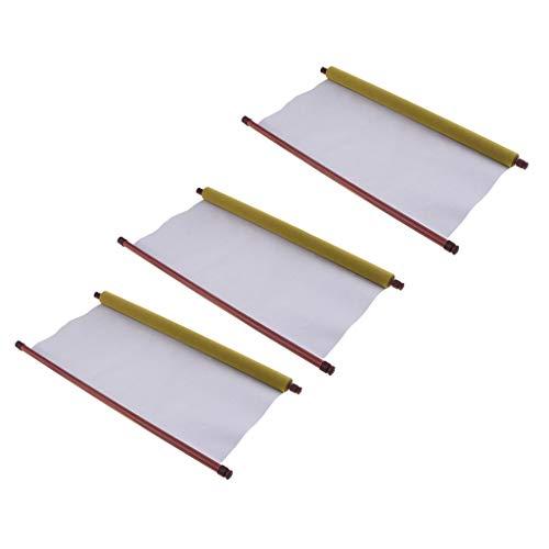 freneci 3pcs Grand Tissu D'écriture D'eau Magique Tapis Vierges Approvisionnement De Pratique De Calligraphie