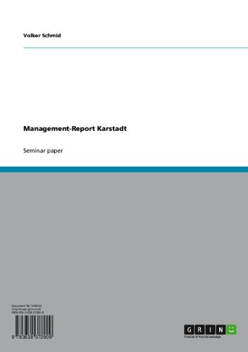 Management-Report Karstadt (English Edition)