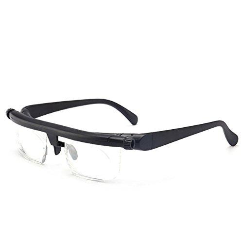 Verstelbare Sterkte lens leesbril, 4D tot + 5D vergrootglas Variable Bijziendheid Magnifying