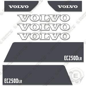 Volvo EC250DLR - Juego de adhesivos para excavadora hidráulica, 3 m de vinilo