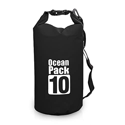 Ntjsmc Impermeable mochila al aire libre bolsa de natación bolsa roll Top Dry Sack mochila flotante agua para navegar pesca surf 10L