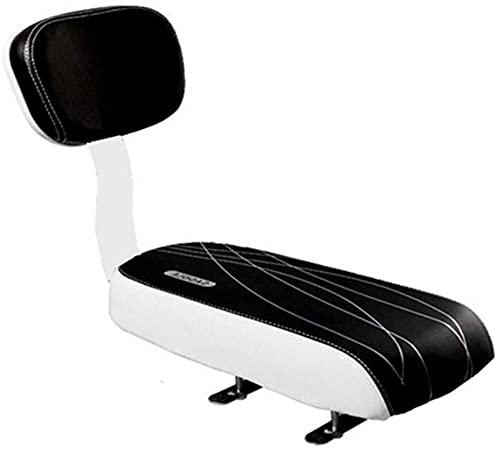 Seggiolino posteriore per bicicletta MTB in pelle PU morbido cuscino posteriore rack sedile per bambini con schienale morbido spessore spugna schienale sicuro comodo per bambini o adulti incredibile