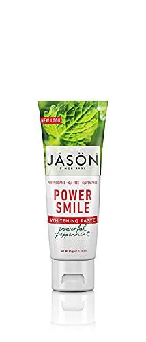 Jason Powersmile Whitening Fluoride-Free Toothpaste, Powerful Peppermint, Travel Size, 3 Oz Pack of 10