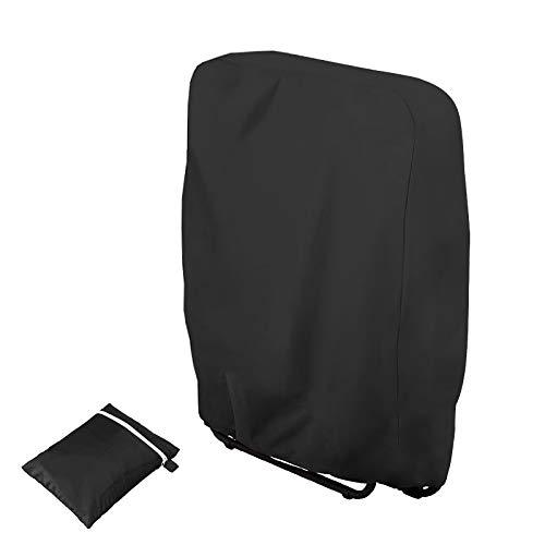 CHEYLIZI plegable silla de jardín cubre impermeable resistente a los rayos UV silla cubiertas negro para hogar muebles de jardín proteger