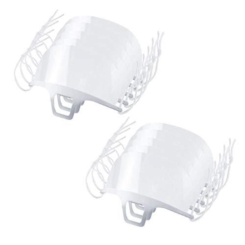20 Stück Transparente Offene Gesichtsschutz, Half Face Visier Kunststoff Klarer Gesichtsschutz Elastisch Komfortabel Tragender Mundschutz, Wiederverwendbarer Sicherheitsgesichtsschutz (10PC)