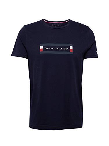 Tommy Hilfiger Corp Box Logo Tee Camicia Sportiva, Blu (Blue Dw5), X-Large Uomo