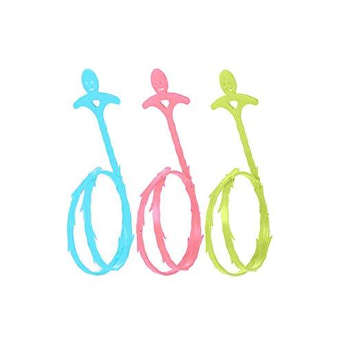 Abfluss-Haarentferner, für Küche, Badezimmer, Waschbecken, 3 Stück (3 Farben)