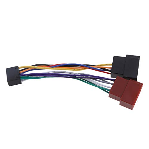 Tucsoncar Radio Cable Adaptador de Sonido 16 Pin ISO zócalo para Kenwood/JVC ISO línea estándar Haz de Coche Accesorios electrónicos