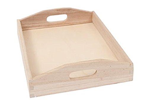 Plateau en bois à décorer - Moyen modèle - 26,5 cm