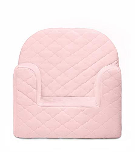 miwido Mini Velvet Sessel für Kinder, Kindersessel - Dekoration - sehr leicht (Rosa)