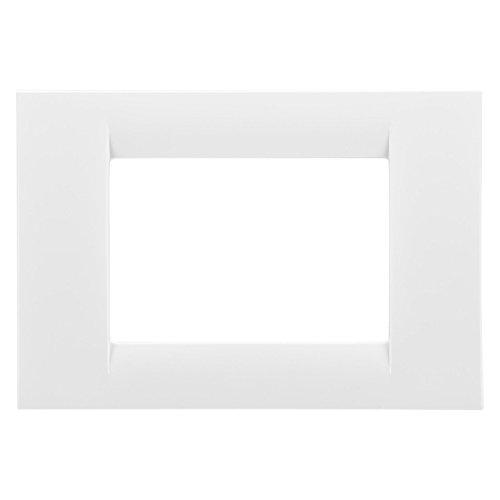 Gewiss 22103 Placca, Serie Virna, a 3 Posti, Bianco