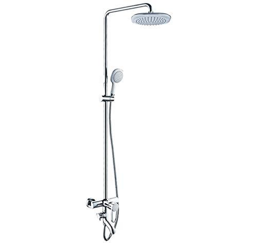 De mano Set de ducha mixta cuadrada irregular de una manija montada en la pared durable (Bath & Shower Faucet Type : Exposed Shower Faucets)