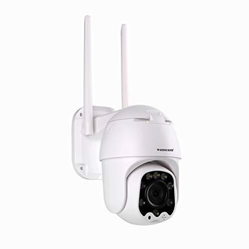 TTAKA7 2020 - Telecamera IP Wanscam 1080P WiFi IP rilevamento di movimento PTZ 4X Zoom 2 vie Audio P2P CCTV Sicurezza Outdoor Dome Cam