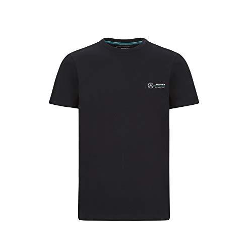 Mercedes-AMG Petronas - Offiziell Lizenziertes Formel-1-Produkt - Logo-T-Shirt klein - Farbe: Schwarz - Größe: L