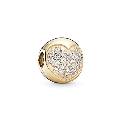 Pandora Charm de 14K de oro, Cubic Circonita Transparente