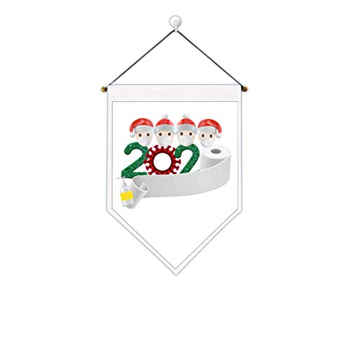 Uspring Christmas Tapestry Santa Claus Tapestry 2020 Xmas Tapestry Merry Christmas Tapestry Saying Goodbye to Quarantine 2020 Wall Hanging for Room (White 4,12.6 x 17.7 inches)