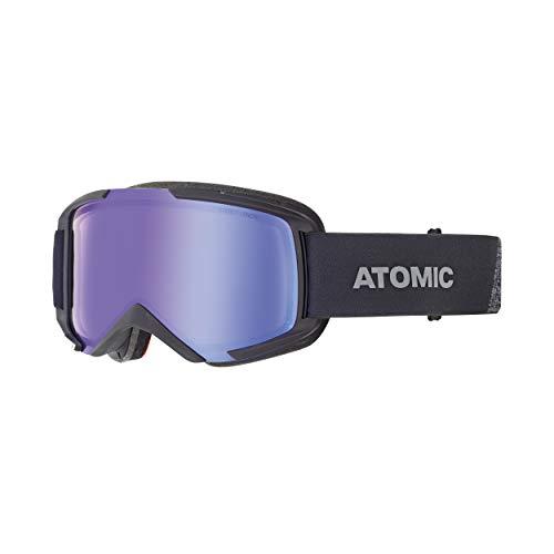 Atomic AN5105862 Gafas de esquí All-Mountain, Unisex, Montura mediana, Lente fotocromática, Compatible con gafas de vista, Savor Photo OTG, Negro/Azul fotocromático