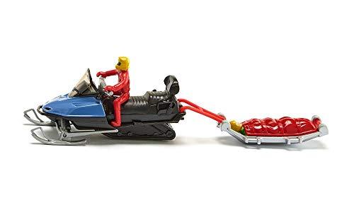 siku 1684, Snowmobil mit Rettungsschlitten, Metall/Kunststoff, Multicolor, Mit Fahrer und geborgener Person