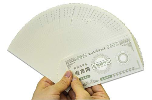 【プロ専用】札勘練習用模擬紙幣100枚&メクール1個&紙帯テープ付2枚(札勘手順書付)日本製