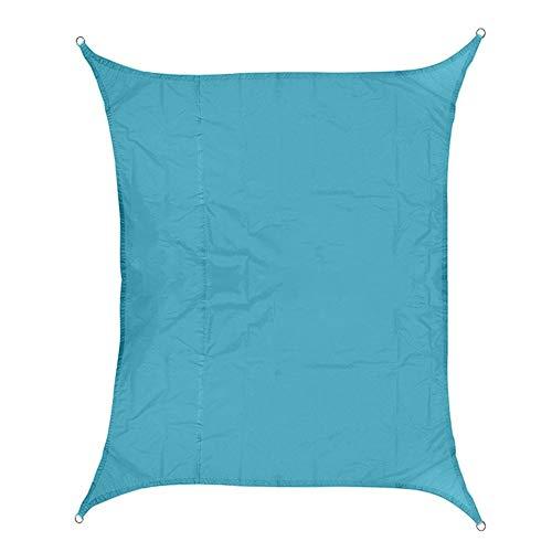 GJSC 420D Impermeabile Oxford rettangolo Tenda da Sole ombreggiatura Ombra Netta Sun Sail all'aperto Sun Capanno (Color : Blu, Size : 2X3m)