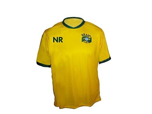 Spielfussballshop Brasilien Trikot mit Wunschname Nummer Kinder Größe 140