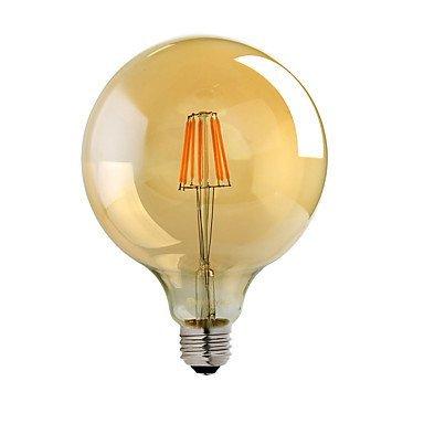 Bombillas vintage Edison Retro Old estilo de moda tornillo LED Bombilla regulable decorativo espiral filamento lámpara E27 220 – 240 V ámbar luz blanca cálida Reino Unido, Amarillo, E27 8.00W 220.00V