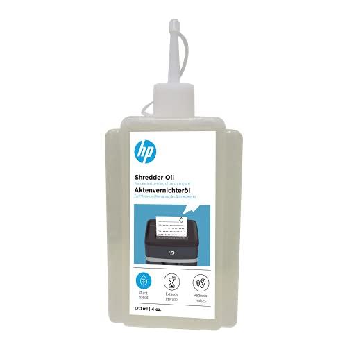 HP Aktenvernichter Öl, 120 ml Flasche, auf pflanzenbasis zur Pflege für Ihren Shredder, 9131