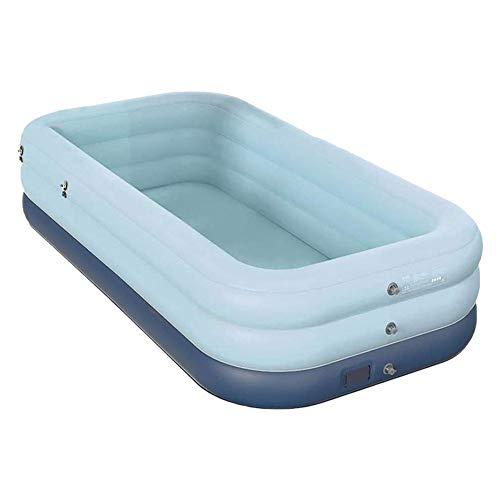 Piscina hinchable rectangular familiar, piscina plana, última tecnología de inflación inalámbrica, 2,1-3,1 m