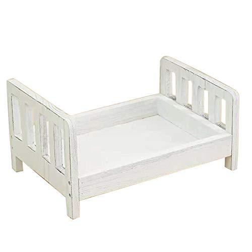 Kamenda Cuna desmontable cesta de madera accesorios de cama sesión de fotos bebé fotografía fondo estudio Props regalo sofá posando recién nacido