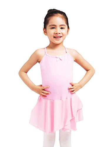 Dancina - Vestido Leotardo para Ballet en Algodón y Lycra para Niña 6-7 años Rosa