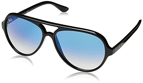 Ray-Ban 4125 Montures de lunettes, Noir (Black/Clear Gradient Blue), 59 Homme