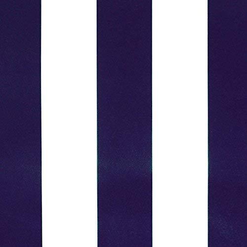 NOVELY® Sunrise Oxford 420D Markisenstoff | extrem reißfestes und dichtes Gewebe | UV-beständig (4-5 von 8) | Polyester Stoff Outdoor Meterware Strandkorb Zeltstoff wasserdicht W-25 Weiß-Dunkelblau