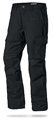 LA Police Gear Mens Urban Ops Tactical Cargo Pants - Elastic WB - YKK Zipper - Black - 44 x 32