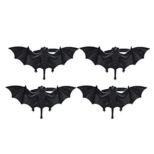 FRCOLOR 4Pcs Halloween Guardanapo Anéis Guardanapo Titulares Morcego Outono Queda Guardanapo Fivelas Anel Vela para Festas Natalícias Do Jantar de Ação de Graças Decoração