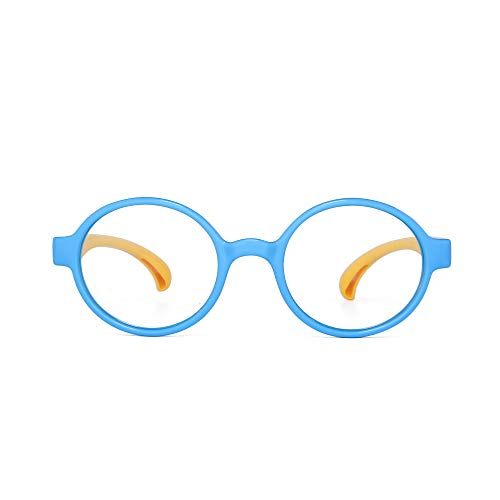 JM Lunettes Enfants Blocage Lumi/ère Bleue Ronde Anti Yeux souche Lunette pour Ordinateurs T/él/éviseurs Jeux Vid/éo Gar/çons Filles