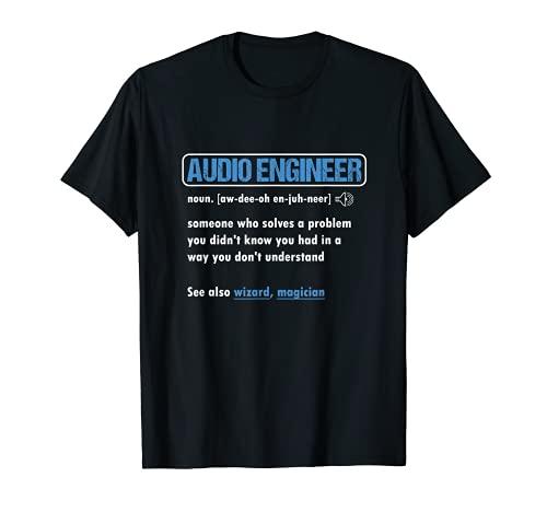 Funny Audio Engineer Definition Sound Technician Engineer T-Shirt