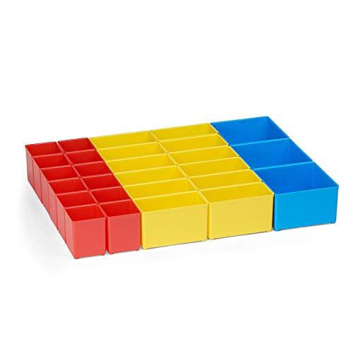 Bosch Sortimo Insetboxen-Set | Insetboxenset T1 Für die T-BOXX | Ideale Werkzeugkoffer Einlagen leer | Ordnungssystem Werkstatt Werkzeug