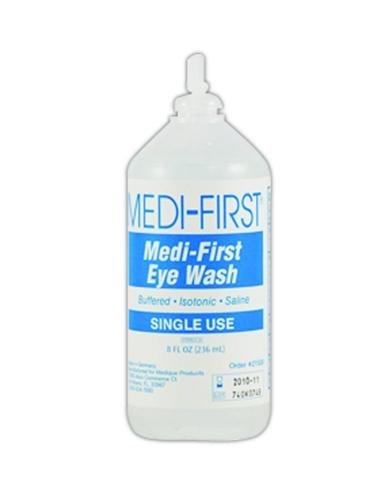 Medique MP21508 Medi-First Eye Irrigation Solution, Sterile Solution, 8 oz, Clear