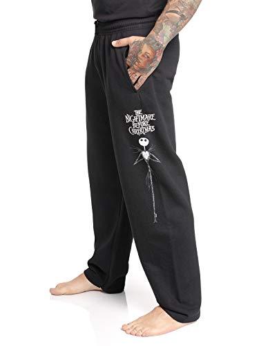 The Nightmare Before Christmas Pesadilla Antes De Navidad Jack Hombre Pantalones de Deporte Negro XL, 80% algodón, 20% poliéster,