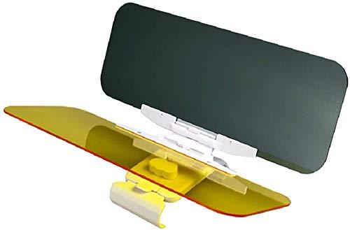 Auto Sonnenblende durchsichtbare Blendschutz gegen Blende Sonnenlicht Fernlicht Tag und Nacht Sichtschutz Anti UV Grau und Gelb Visier mit Halter (M)