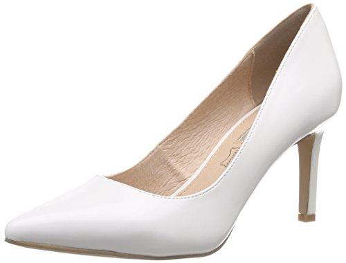 Buffalo Shoes Damen H733-C002A-4 P1239K BOX PU Pumps, Weiß (White), 36 EU