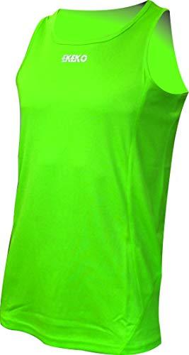 """Ekeko, canottiera da jogging """"Xrace"""", maglietta senza maniche per uomo, uso:per corsa, atletica leggera, pallavolo e perfetto per la palestra,traspirante e leggera, verde, XL"""