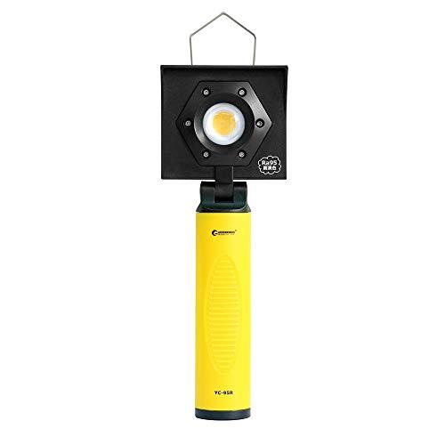 グッドグッズ(GOODGOODS) 高演色 充電式 LED 作業灯 CRI95 調色ライト マグネット付き 太陽光 LEDライト 車修理 塗装用ライト 壁掛けホルダー付き YC-95R